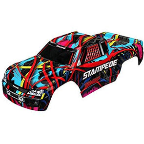 Traxxas Body, Stampede, Hawaiian graphics (painted, decals applied)