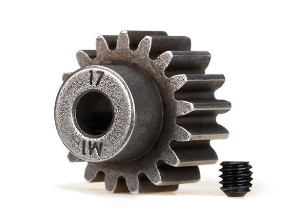 6490X Gear, 17-T pinion (1.0 metric pitch) (fits 5mm shaft)/ set screw (compatible with steel spur gears)