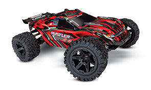67064-1RED Traxxas Rustler 4X4 1/10 4WD Stadium Truck RTR - Red