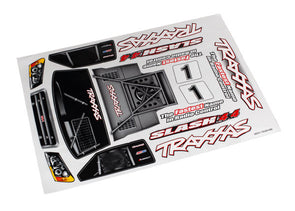 6813R Decal sheet, Slash 4X4