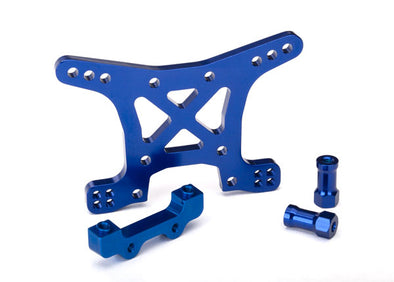 6839X Traxxas Aluminum Front Shock Tower (Blue)