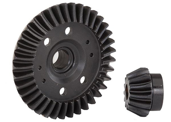 6879R Ring gear, differential/ pinion gear, differential (machined, spiral cut) (rear)