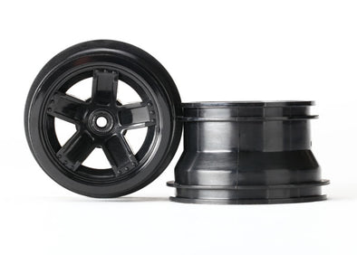 7671 Traxxas LaTrax Teton 5 Spoke Wheels (Black) (2)