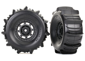 8475 Tires and wheels, assembled, glued (Desert Racer® wheels, paddle tires, foam inserts) (2)
