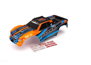 8911T Body, Maxx®, orange (painted)/ decal sheet