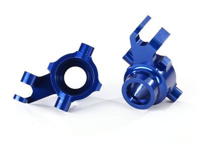 8937X  Steering blocks, 6061-T6 aluminum (blue-anodized), left & right