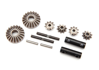 8982 Traxxas Gear set, differential (output gears (2)/ spider gears (4)/ spider gear shaft (2)/ output shaft (2)/ 2.5X13.8 pin (2))