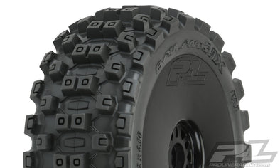 9067-41 Badlands MX M2 (Medium) All Terrain 1:8 Buggy Tires Mounted on Velocity Wheels (2) for Front or Rear
