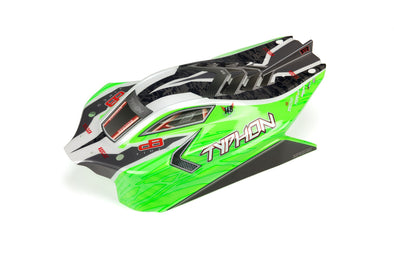 ARA402272 TYPHON 4X4 MEGA PAINTED DECALED TRIMMED BODY (GREEN)
