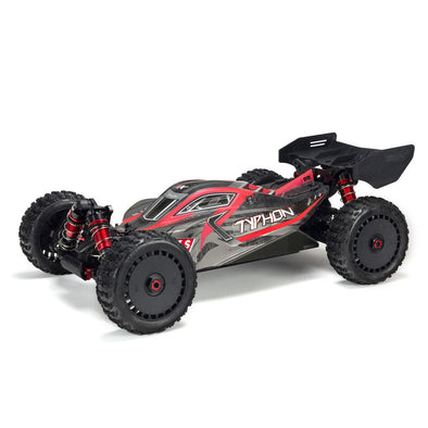 ARA8606V5 1/8 TYPHON 6S V5 4WD BLX Buggy with Spektrum Firma RTR, Black