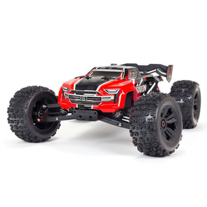ARA8608V5T1 1/8 KRATON 6S V5 4WD BLX Speed Monster Truck with Spektrum Firma RTR, Red