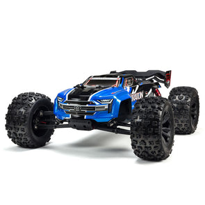 ARA8608V5T2 1/8 KRATON 6S V5 4WD BLX Speed Monster Truck with Spektrum Firma RTR, Blue