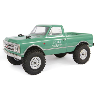 AXI00001T1 1/24 SCX24 1967 Chevrolet C10 4WD Truck Brushed RTR, Green