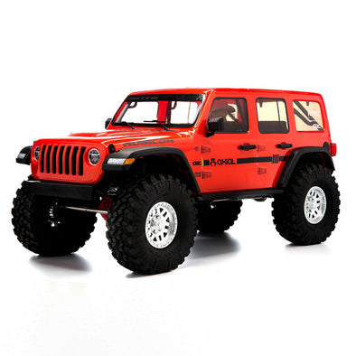 AXI03003T2 1/10 SCX10 III Jeep JLU Wrangler with Portals RTR Orange (05-07-20)