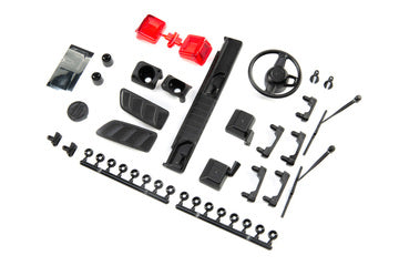 AXI230022 Exterior Body Detail Parts Jeep JLU: SCX10III