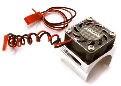 C23141SILVER Super Brushless Motor Heatsink+Cooling Fan 1/16 Traxxas ERevo, Slash, Summit, Rally