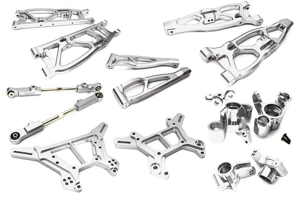 C28729SILVER Billet Machined Alloy Suspension Kit for Arrma 1/8 Kraton 6S BLX