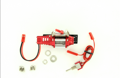 ROCK LIZARD DESIGNS BILLET HEAVY DUTY ELECTRIC WINCH RED RLD-T17006