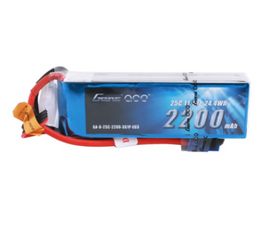 Gens ace 2200mAh 3S 11.1V 25C Lipo Battery Pack with EC3 Plug for RC Plane
