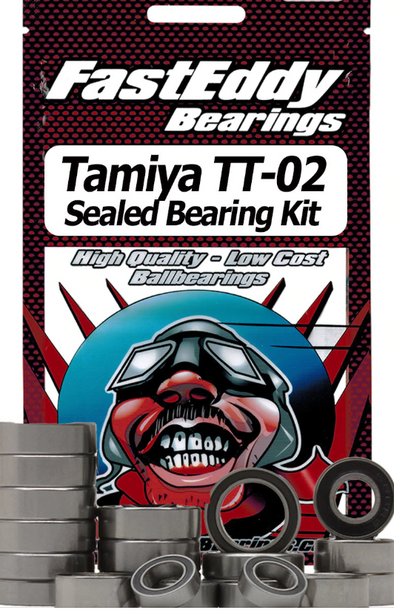 TFE411 Tamiya TT-02 Chassis Rubber Sealed Bearing Kit