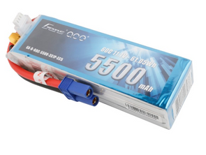 Gens ace 5500mAh 11.1V 60C 3S1P Lipo Battery Pack with EC5 Plug