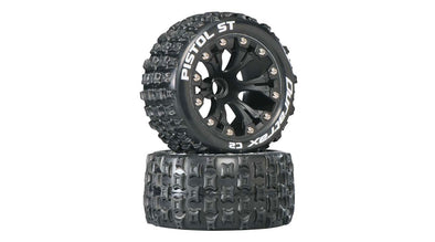 "DTXC3552 Pistol ST 2.8"" 2WD Mounted Front C2 Tires, Black (2)"