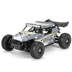 ECX01005T2 1/18 Roost 4WD Desert Buggy: Grey/Yellow RTR (Only available with store pick-up)