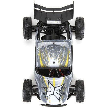 1/18 Roost 4WD Desert Buggy: Grey/Yellow RTR