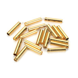 Gold Bullet Connector, Female, 4mm (30)
