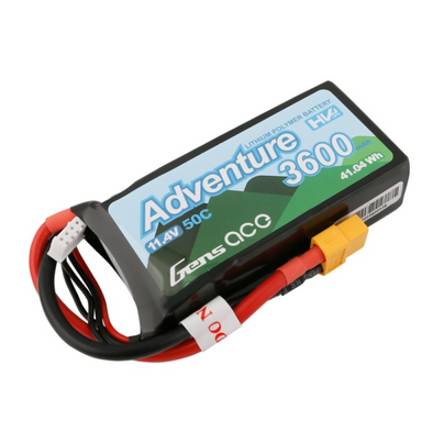 Gens Ace Adventure High Voltage 3600mAh 3S1P 11.4V 50C Lipo Battery with XT60 Plug