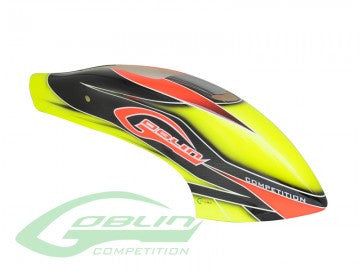 CANOMOD AIRBRUSH CANOPY YELLOW/ORANGE - GOBLIN 630 COMPETITION