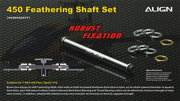 H45H005XXW 450 Feathering Shaft Set