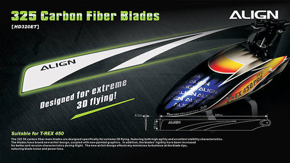 HD520CT 520 3G Carbon Fiber Blades