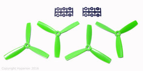 HYPERION 5X4.5 BULLNOSE STYLE THREE BLADE PROP (CW & CCW 2 PAIRS) Green