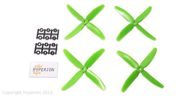 HYPERION 5X4 FOUR-BLADE PROP GREEN (CW & CCW 2 PAIRS)