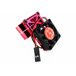 Clip-On Two-Piece Motor Heat Sink W/ Fan (Red)