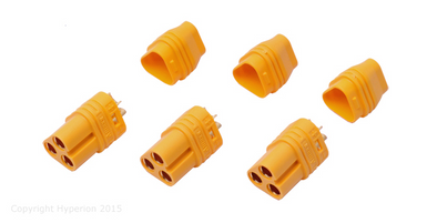 Hyperion Mt60 3-Pole 3.5Mm Female Connector For Brushless Motors (3 Pcs)