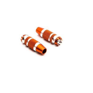 SPMA4005 Gimbal Stick Ends 24mm Orange with Silver (2): DX6G2, DX7G2