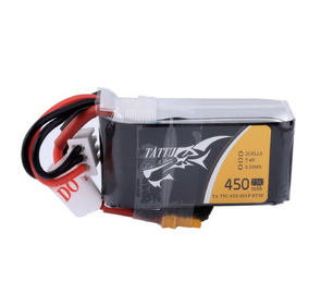 Tattu 450mAh 7.4V 75C 2S1P Lipo Battery Pack with XT30 plug TA4169