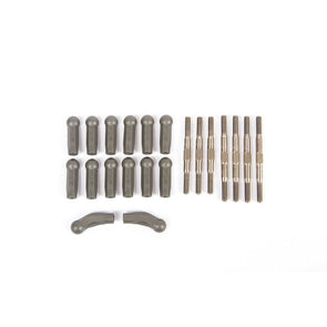 TLR334077 HD Turnbuckle Kit, Titanium: 22X-4