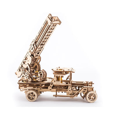 UGears Ladder Fire Truck - 537 pieces (Advanced)