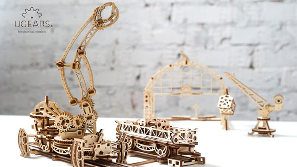 UGears Rail Mounted Manipulator - 354 pieces