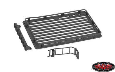 VVV-C1044 MICRO SERIES ROOF RACK W/ LIGHT SET AND LADDER AXIAL SCX24 1/24 JEEP WRANGLER RTR