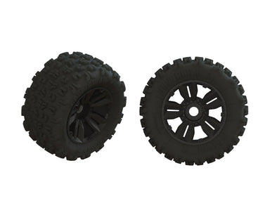 ARA550061 DBOOTS 'COPPERHEAD2 SB MT' TIRE SET GLUED (1 Pair)