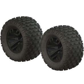 AR550044 dBoots Fortress MT Tire Set Glued Black (2)