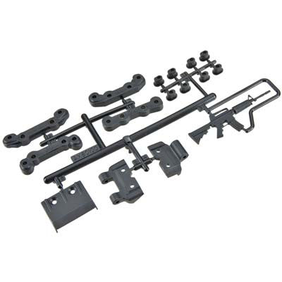 AX80100 Chassis Guard/Toe Block Insert Set Fr/Re EXO
