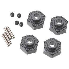 AX30429 Aluminum Hex Hub 12mm Black (4)