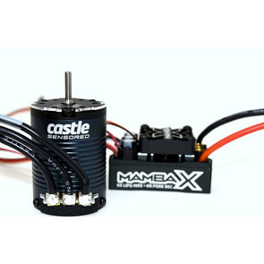 "Castle Creations Mamba X, 25.2v WP ESC And 1406-1900KV Sensored Crawler Combo 1/8"" (3.17mm)"