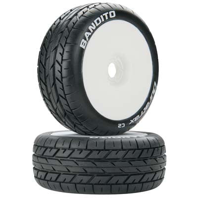 Bandito 1/8 Buggy Tire C2 Mounted White (2)