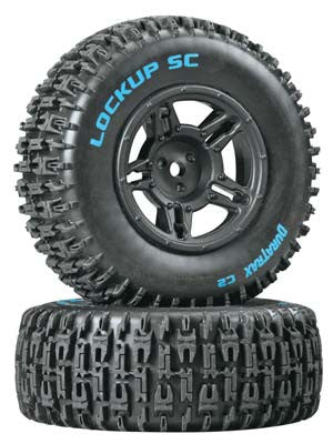 Lockup SC Tire C2 Mntd Blk Slash Blitz SCRT10 (2)